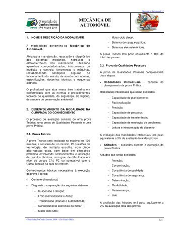 MECÂNICA DE AUTOMÓVEL