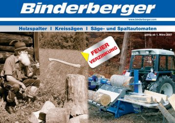 Holzspalter l Kreissägen l Säge- und Spaltautomaten - VONBLON ...