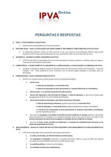 Perguntas e Respostas (FAQ) - Sefaz - AL