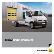 RENAULT MASTER CHASSI CABINE - Renault do Brasil