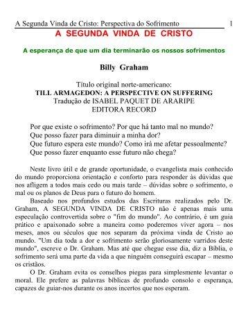 A SEGUNDA VINDA DE CRISTO - Luiz Antonio