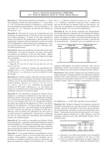 6a. Lista de Exercícios - ICMC