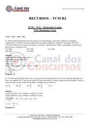 Benjamin TCM RJ - Canal dos Concursos