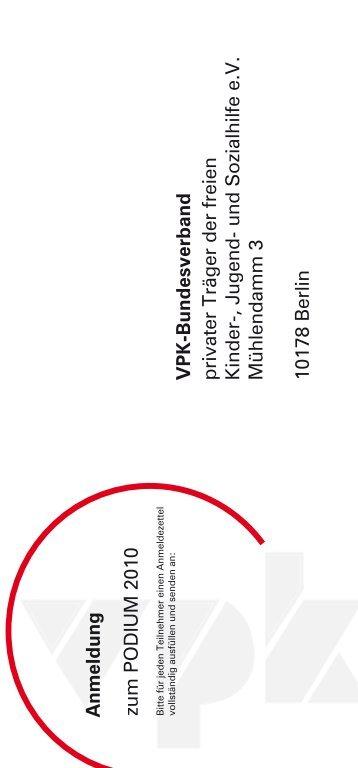 und Sozialhilfe eV Mühlendamm 3 10178 Berlin A - VPK