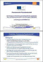"""Projektidee """"Pommersche Flusslandschaft"""" - Regionaler ..."""