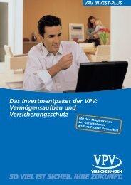 Vermögensaufbau und Versicherungsschutz - VPV Versicherungen