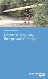 Lebensversicherung – Ihre private Vorsorge - VPV Versicherungen