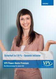 Sicherheit zu 110 % – Dynamik inklusive VPV Power-Rente Premium