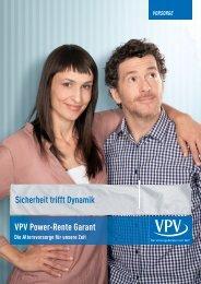 Sicherheit trifft Dynamik VPV Power-Rente Garant VORSORGE
