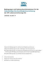 Bedingungen und Verbraucherinformationen für die Selbstständige ...
