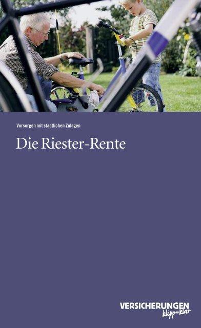 Riester-Rente - VPV Versicherungen