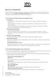 Was tun im Schadenfall? - VPV  Versicherungen
