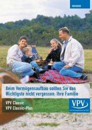 VPV Classic VPV Classic-Plus - VPV Versicherungen