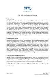 Merkblatt zur Datenverarbeitung - VPV Versicherungen