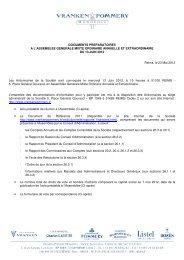 Assemblée Générale Mixte Ordinaire Annuelle et Extraordinaire du ...