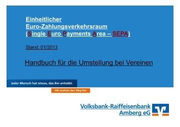 SEPA - Handbuch für die Umstellung bei Vereinen - Volksbank ...