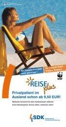 Privatpatient im Ausland schon ab 9,50 EUR! - VR Bank Hof eG