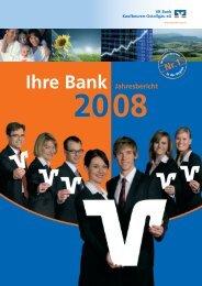 Geschäftsbericht 2008 - VR Bank Kaufbeuren-Ostallgäu eG