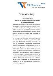Gewinner Gewinnsparen Februar - VR Bank eG, Niebüll