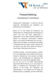 Fotowettbewerb in Nordfriesland - VR Bank eG, Niebüll