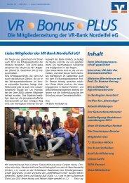 Mitgliederzeitung Nr. 24 - März 2013 - VR-Bank Nordeifel eG
