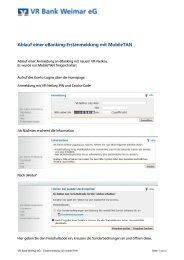 Ablauf einer eBanking-Erstanmeldung mit MobileTAN - VR Bank ...