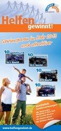 Flyer Gewinnplan 2013