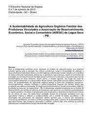 A Sustentabilidade da Agricultura Orgânica Familiar dos ... - ANPPAS