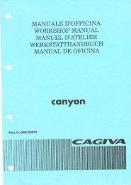 Cagiva Canyon 500 Service manual
