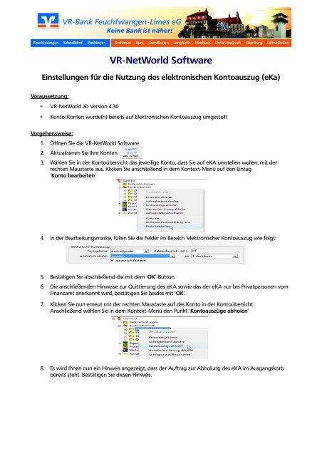 Anleitung für den elektronischen Kontoauszug - VR-Bank ...