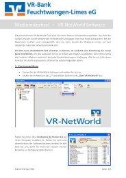 Mediumwechsel - VR-NetWorld Software - VR-Bank Feuchtwangen ...