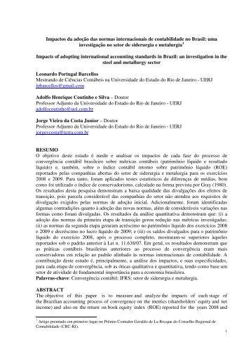 Impactos da adoção das normas internacionais de ... - LabCont