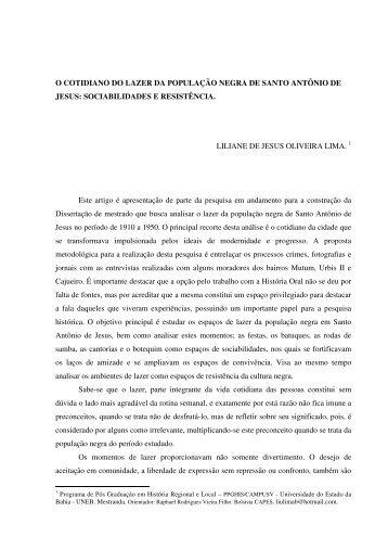 Liliane de Jesus Oliveira Lima - XI Encontro Nacional de História Oral