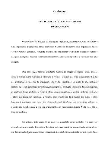 Marxismo e Filosofia da Linguagem - Revista Brasil de Literatura