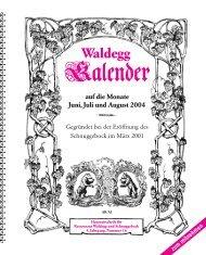 Ausgabe 16 Jg 2004 - Waldegg