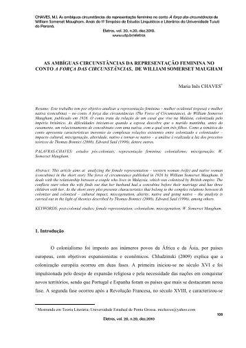 As ambíguas circunstâncias da representação feminina no ... - UTP