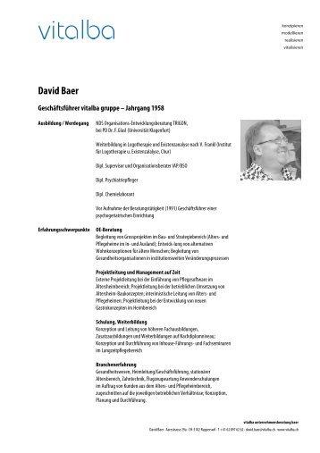 David Baer - Vitalba