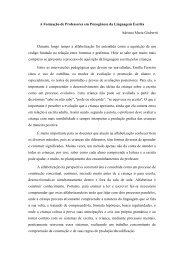 A Formação de Professores em Psicogênese da Linguagem Escrita ...