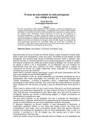 15 anos de auto-edição na rede portuguesa (ou: código é ... - APDSI