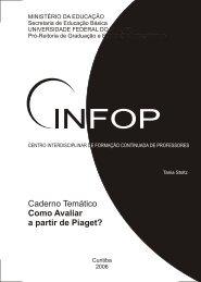 Caderno Temático Como Avaliar a partir de Piaget? - CINFOP ...