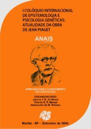 I Colóquio Internacional de Epistemologia e Psicologia ... - FUNDEPE
