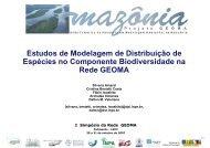 Estudos de Modelagem de Distribuição de ... - Geoma - LNCC