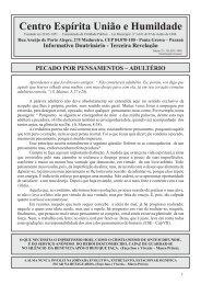 Edição 29 - Julho/2009 - CEUH - Centro Espirita Uniao e Humildade