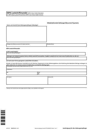 SEPA-Basis-Lastschriftmandat (deutsch)