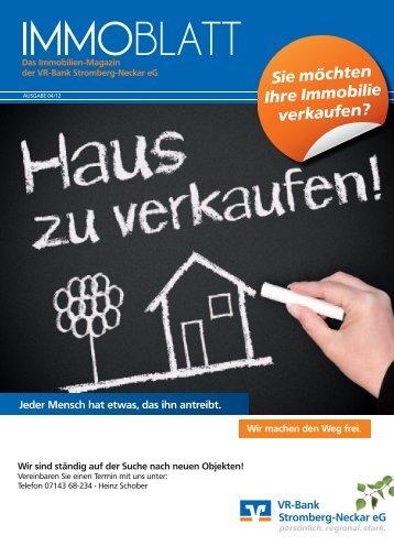 Sie möchten Ihre Immobilie verkaufen? - VR-Bank Stromberg ...
