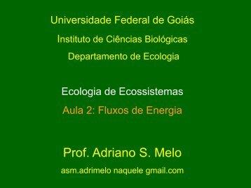Apresentação do PowerPoint - Ecologia da UFRGS