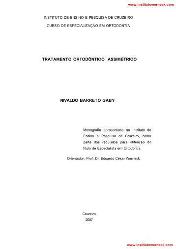 tratamento ortodôntico assimétrico - Instituto de Ensino e Pesquisa ...