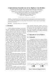 Criptossistemas baseados em curvas elípticas e ... - DCA - Unicamp