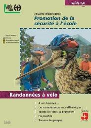 Randonnées à vélo – Safety Tool (Matériel didactique) - BfU