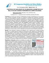 controle de qualidade de colimadores assimétricos e multi